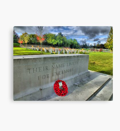 Their Name Liveth For Evermore - HDR Canvas Print