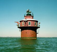 Craighill Channel Lower Range Front Lighthouse. Chesapeake Bay, Maryland. USA. by jwhimages