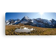 Tux Alps Canvas Print