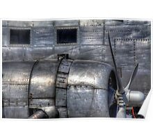 Aluminum Skin -- Douglas DC-3 Up Close Poster