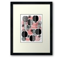 Simply Natural Grey Pink Framed Print