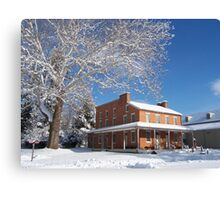 Landis Valley hotel in the winter Canvas Print