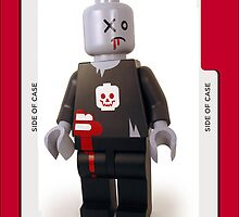 zombie lego iphone case by grafidiU