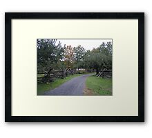 Fall Farm Lane Framed Print