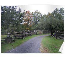 Fall Farm Lane Poster
