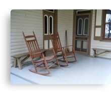Landis Valley Rocking Chairs Canvas Print