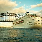 Pacific Pearl on Sydney Harbour by Roger Barnes