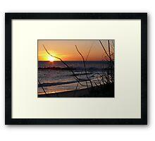 Sunrise Waves Framed Print