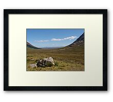Through the Glen Framed Print