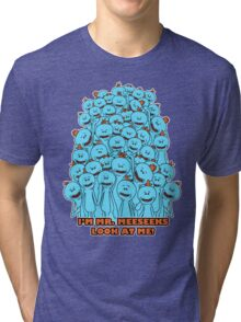 Mr. Meeseeks - Rick and Morty Tri-blend T-Shirt