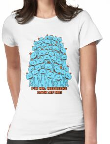 Mr. Meeseeks - Rick and Morty Womens Fitted T-Shirt