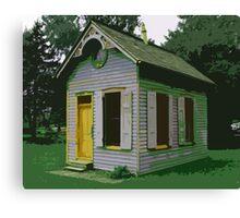 Landis Valley Blue House Yellow Door Canvas Print