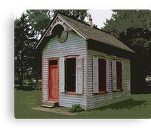 Landis Valley Blue House Red Door Canvas Print