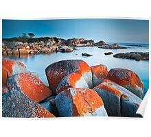 Binalong Bay (II), Bay of Fires, Tasmania Poster