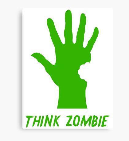 Think Zombie Parody T Shirt Canvas Print