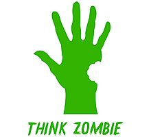 Think Zombie Parody T Shirt Photographic Print