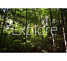 Forest // Silent In The Trees // Explore Photographic Print