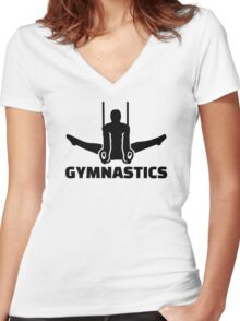 Gymnastics Women's Fitted V-Neck T-Shirt