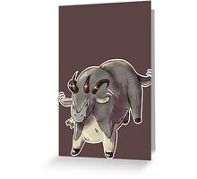 Cute Guild Wars Dolyak Greeting Card