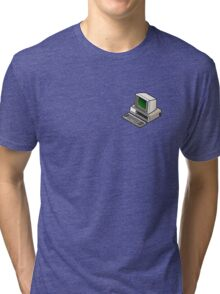 IBM PC 5150 (on your breast) Tri-blend T-Shirt