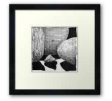 Boulder Shadows * Framed Print