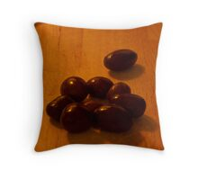 Chocolate Covered Almonds  Throw Pillow