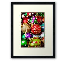 Assorted beautiful ornaments Framed Print