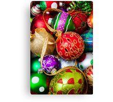 Assorted beautiful ornaments Canvas Print