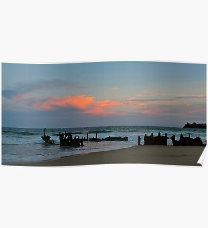 Sunset at the SS Dicky Poster