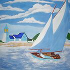 SAIL BOAT PAINTNG DONE WITH ACRYLIC PAINTS  by TSykes