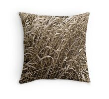 Reeds in the wind Throw Pillow