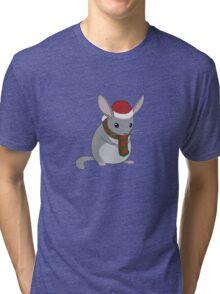 Christmas Chinchilla Tri-blend T-Shirt