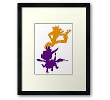 Spyro and Crash Framed Print