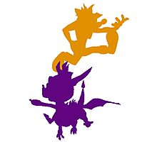 Spyro and Crash Photographic Print