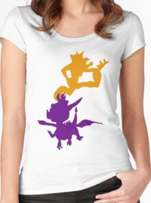 Spyro and Crash Women's Fitted Scoop T-Shirt