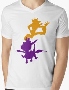 Spyro and Crash Mens V-Neck T-Shirt