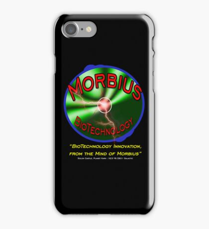 Morbius BioTechnology Black Background (Doctor Who) iPhone Case/Skin