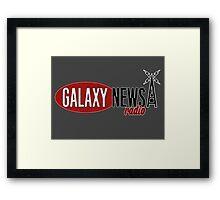 Galaxy News Radio Logo Framed Print