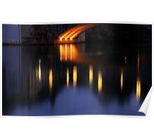 The Rhine At Night Poster