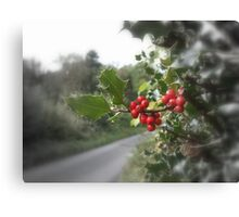 Holly & Berries Canvas Print