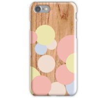 the wood circle iPhone Case/Skin
