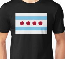 Chicago Teacher Flag - colors OTHER THAN red Unisex T-Shirt
