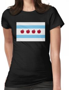 Chicago Teacher Flag - colors OTHER THAN red Womens Fitted T-Shirt