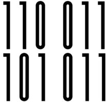 <Code of Conduct> Binary Barcode Sticker