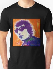 Bob Dylan Pop Art Portrait -Painting by William Wright T-Shirt