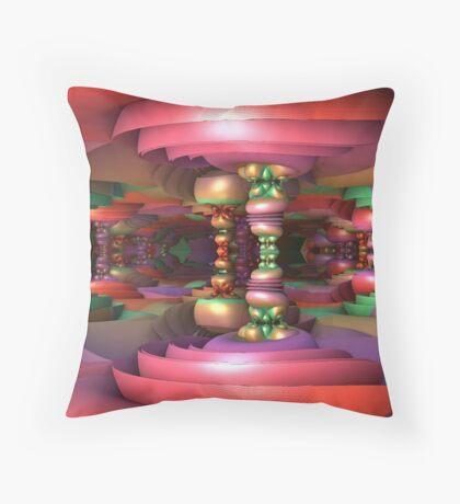 Taffyland Throw Pillow
