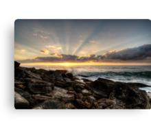 Bungan Beach Sunrise Sunrays Canvas Print