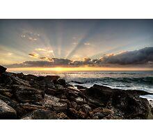 Bungan Beach Sunrise Sunrays Photographic Print
