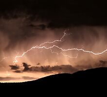 Lightning over the south of Canberra, AUSTRALIA by Anthony Caffery