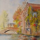 Bruges - the canal in Autumn by Beatrice Cloake Pasquier